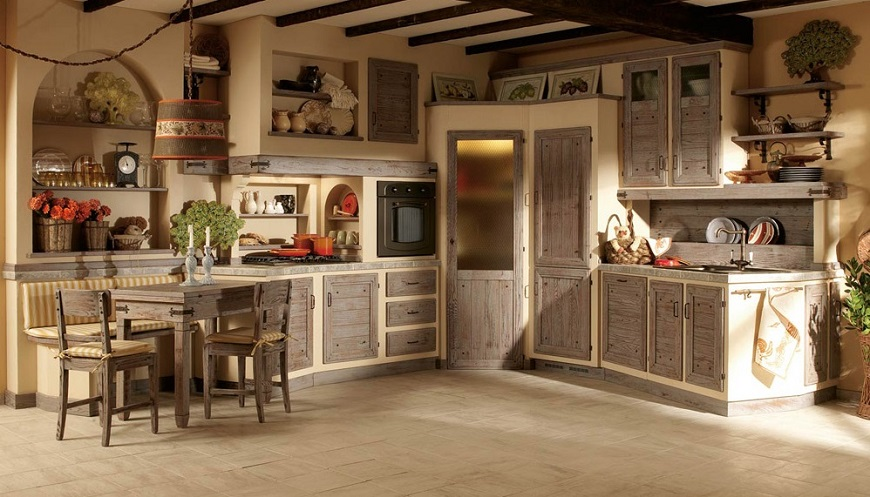 Cucine Roma in stile country